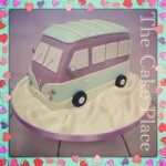 a wedding cake with a difference <3 , Campervan themed cake