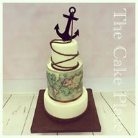 4''6''&8'' nautical themed cake
